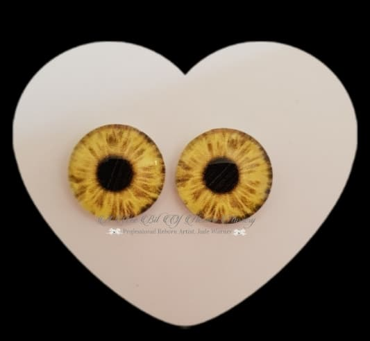 Fantasy Glass Cabochon  Hand Printed Eyes -size 20mm- #PR21