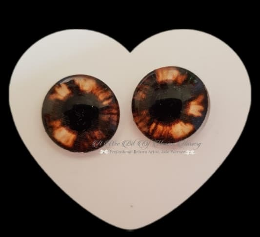 Fantasy Glass Cabochon  Hand Printed Eyes -size 18mm- #PR23