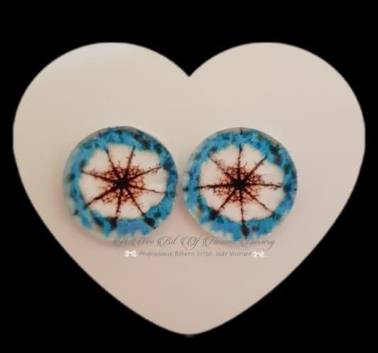 Fantasy Glass Cabochon  Hand Printed Eyes -size 18mm- #PR25