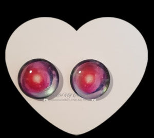 Fantasy Glass Cabochon  Hand Printed Eyes -size 18mm- #PR26