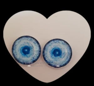Fantasy Glass Cabochon  Hand Printed Eyes -size 18mm- #PR27