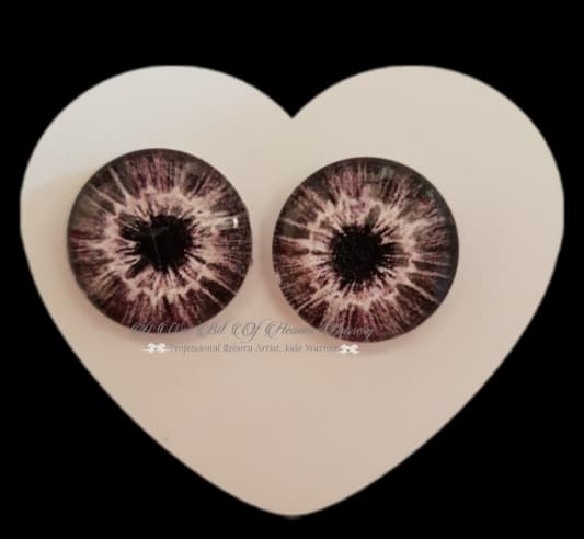 Fantasy Glass Cabochon  Hand Printed Eyes -size 20mm- #PR28