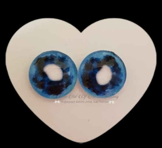 Fantasy Glass Cabochon  Hand Printed Eyes -size 18mm- #PR29