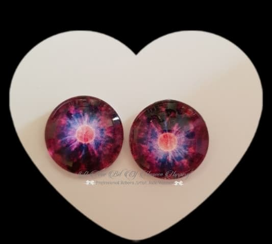 Fantasy Glass Cabochon  Hand Printed Eyes -size 18mm- #PR32