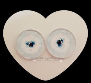 Fantasy Glass Cabochon  Hand Printed Eyes -size 20mm- #PR37