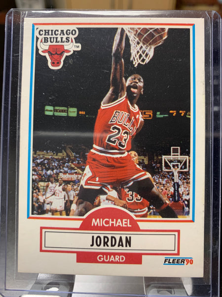 Michael Jordan Fleer Card 1990-91 Season #26