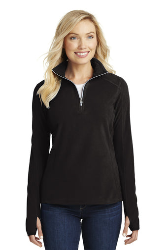 Lancaster Equestrian Port Authority® Ladies Microfleece 1/2-Zip Pullover
