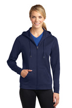 Load image into Gallery viewer, Sport-Tek® Ladies Sport-Wick® Fleece Full-Zip Hooded Jacket