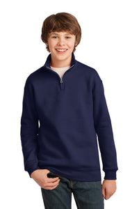 JERZEES® Youth NuBlend® 1/4-Zip Cadet Collar Sweatshirt