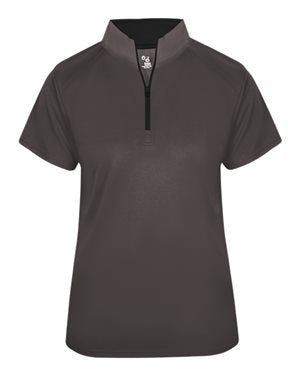 Lancaster Equestrian Badger B-Core Short Sleeve 1/4 Zip Pullover