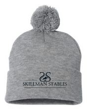 "Load image into Gallery viewer, Skillman Stables Sportsman - Pom-Pom 12"" Knit Beanie"