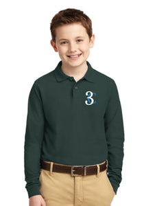 TCE Port Authority® Youth Silk Touch™ Long Sleeve Polo