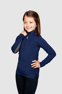 EIS Children's Solid Navy COOL Shirt ®