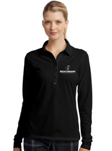 Benchmark Equestrian Nike Long Sleeve Dri-FIT Stretch Tech Polo