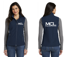 Load image into Gallery viewer, MCL Equestrian Port Authority® Core Soft Shell Vest