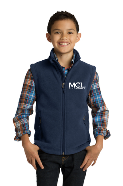 MCL Equestrian Port Authority® Youth Fleece Vest
