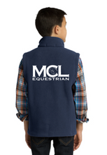 Load image into Gallery viewer, MCL Equestrian Port Authority® Youth Fleece Vest