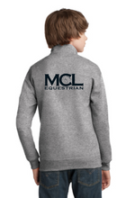 Load image into Gallery viewer, MCL Equestrian JERZEES® Youth NuBlend® 1/4-Zip Cadet Collar Sweatshirt