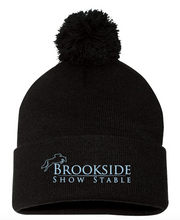 "Load image into Gallery viewer, Brookside Show Stables Sportsman - Pom-Pom 12"" Knit Beanie"