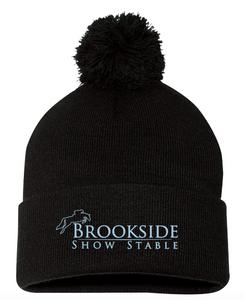 "Brookside Show Stables Sportsman - Pom-Pom 12"" Knit Beanie"