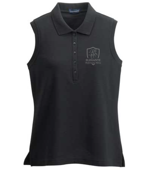Elegante Performance Horses Women's Athletic Sleeveless Polo Shirt