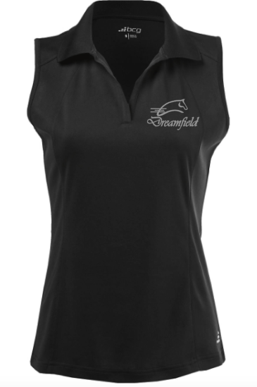 Dreamfield Farm Women's Athletic Sleeveless Polo Shirt