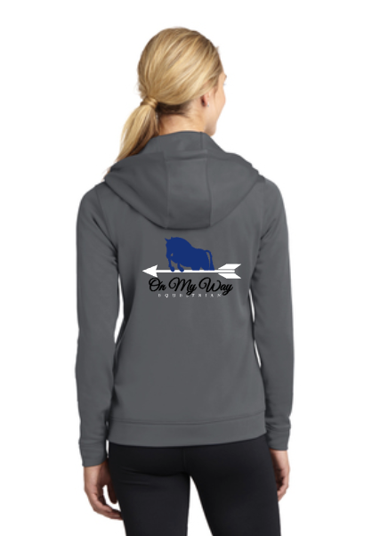 On My Way Equestrian - Sport-Tek® Ladies Sport-Wick® Fleece Full-Zip Hooded Jacket