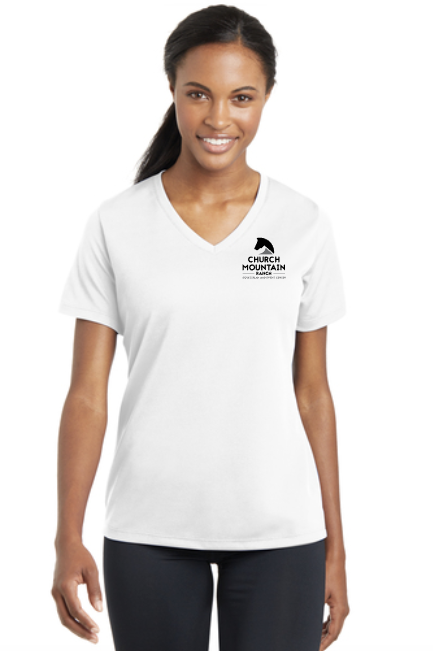 CMR - Sport-Tek® Ladies PosiCharge® RacerMesh® V-Neck Tee