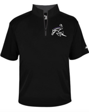 Load image into Gallery viewer, Get Over It Stables - Badger - B-Core Short Sleeve 1/4 Zip Tee (Adult Unisex & Youth)