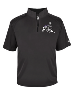 Get Over It Stables - Badger - B-Core Short Sleeve 1/4 Zip Tee (Adult Unisex & Youth)