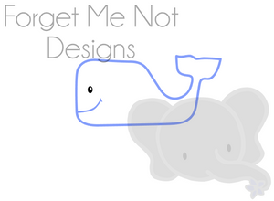 Whale Outline Cut File