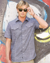 Load image into Gallery viewer, Burnside - Men's Textured Solid Short Sleeve Shirt