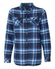 Load image into Gallery viewer, Burnside - Women's Yarn-Dyed Long Sleeve Flannel Shirt