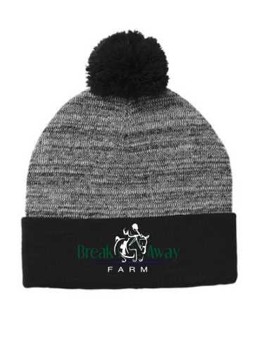 Break Away Farm Sport-Tek ® Heather Pom Pom Beanie