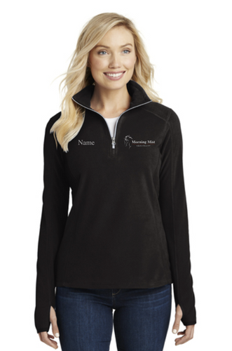 Morning Mist Equestrians Port Authority® Microfleece 1/2-Zip Pullover