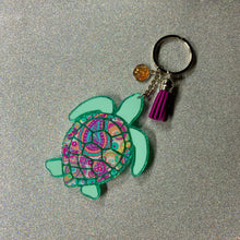 Load image into Gallery viewer, Sea Turtle Keychain