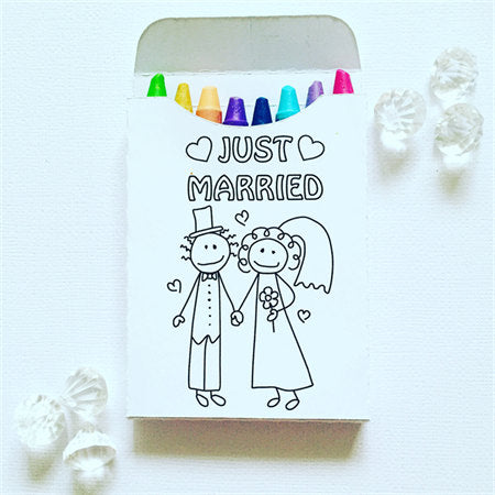 Wedding crayon boxes