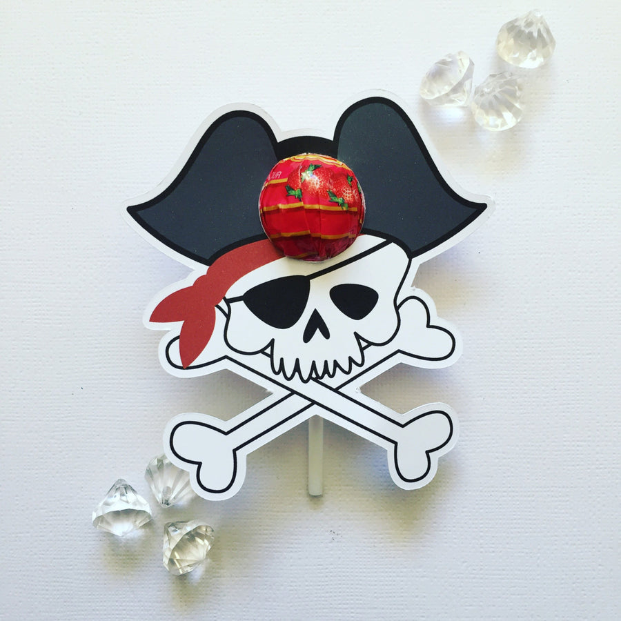 Pirate lollipop holders