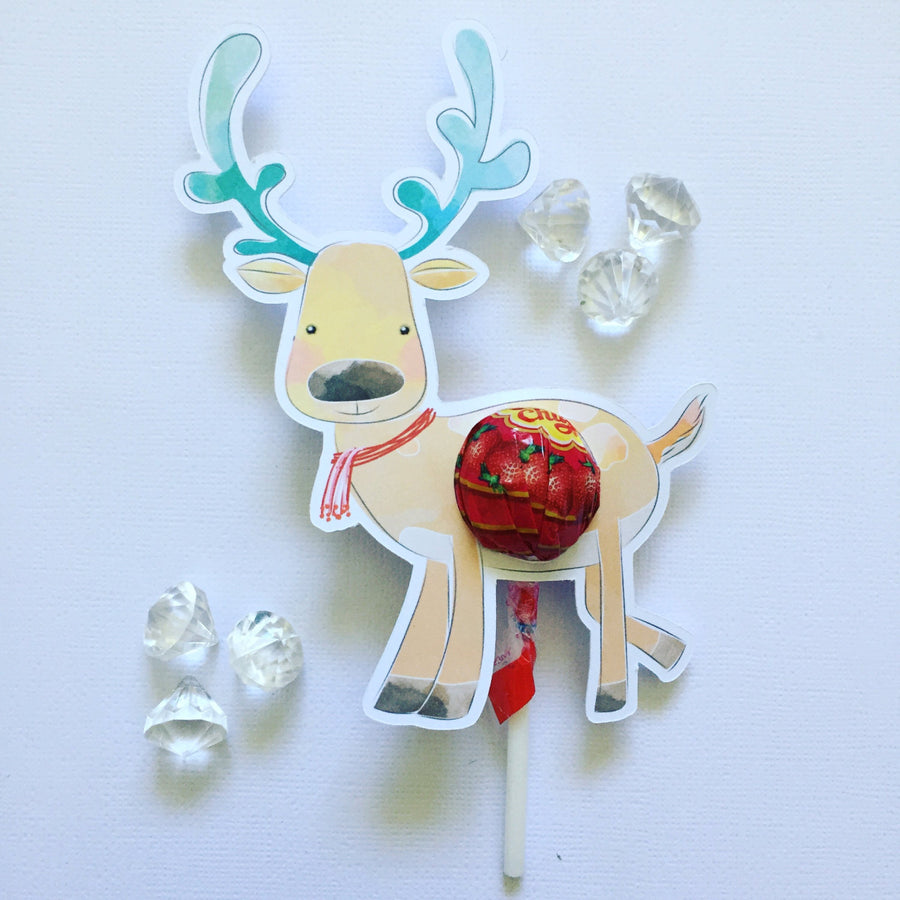 Reindeer lollipop holders