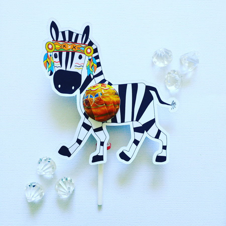 Zebra lollipop holders