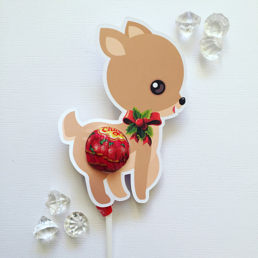 My little Christmas deer lollipop holders