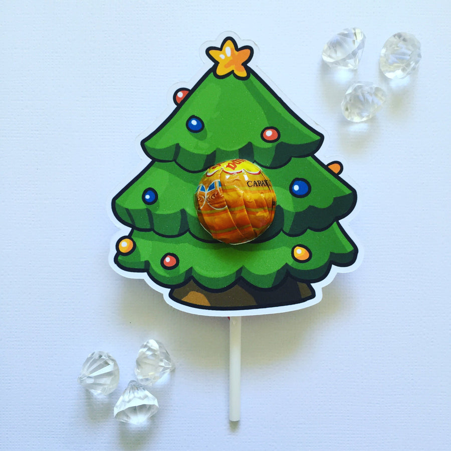Christmas tree lollipop holders