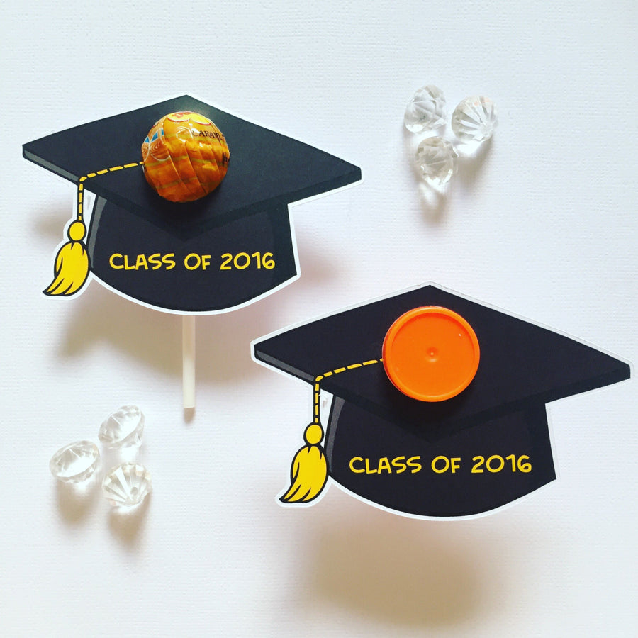 Graduation lollipop holders