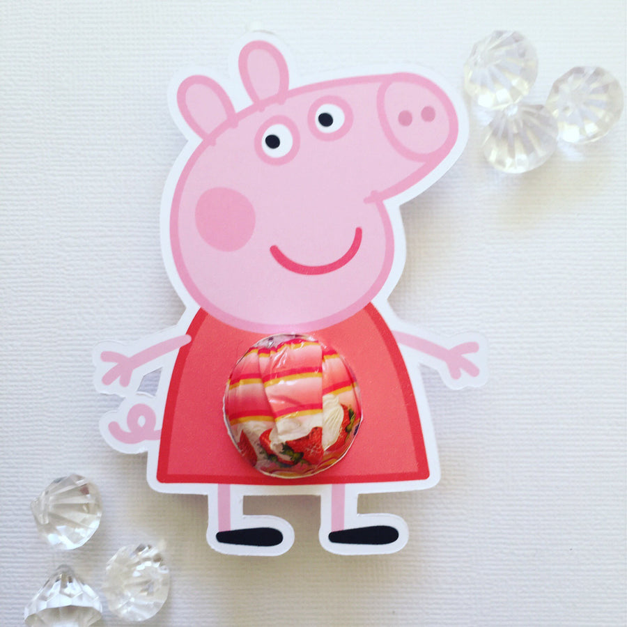 Peppa pig lollipop holders