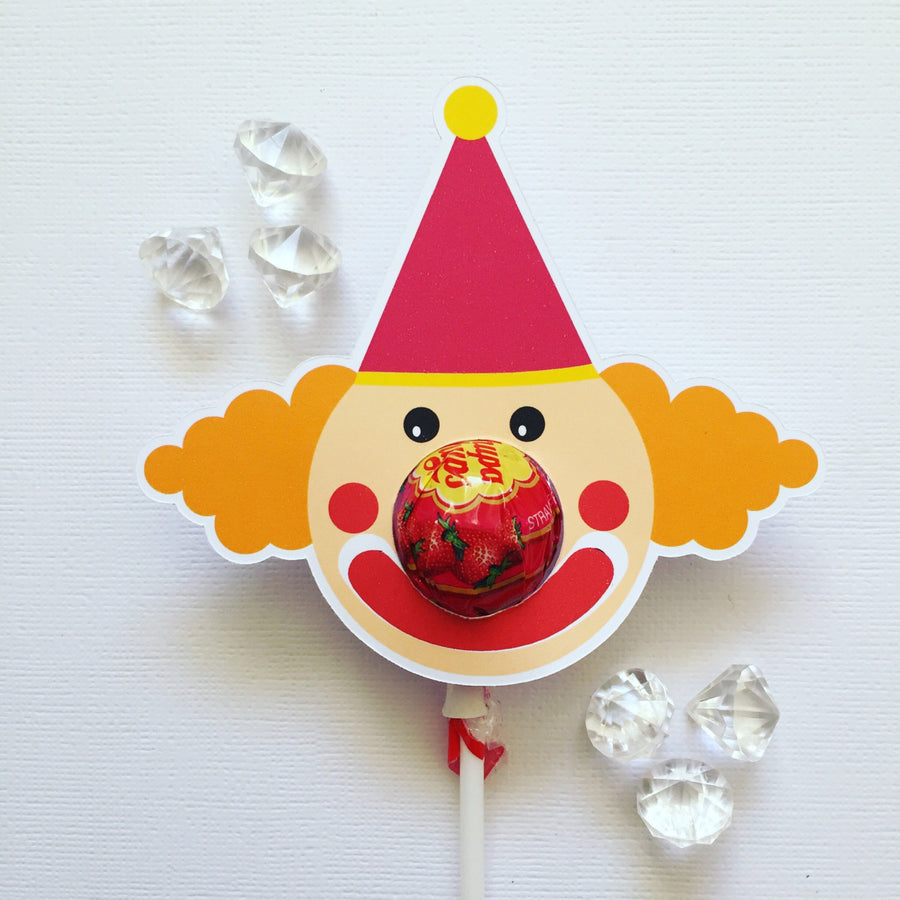 Clown lollipop holders