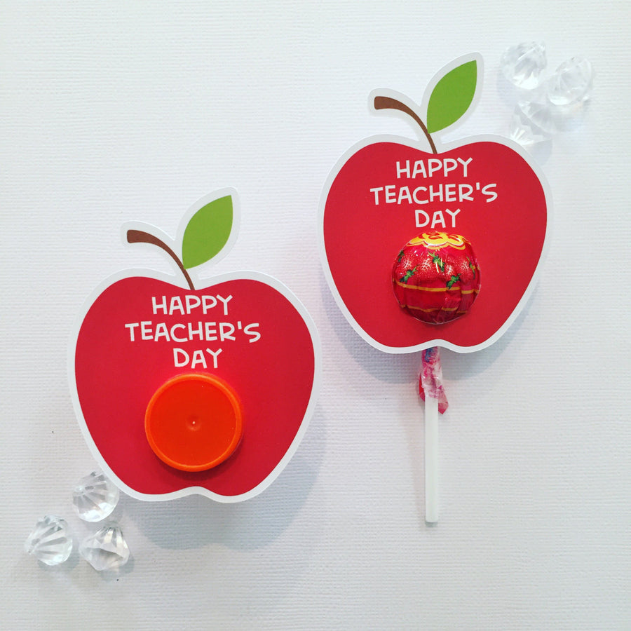 Teacher day lollipop holders