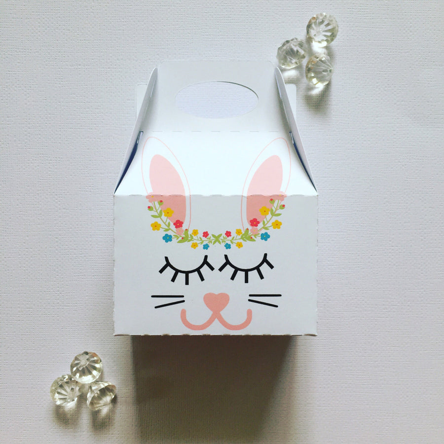 Sleepy bunny treat boxes