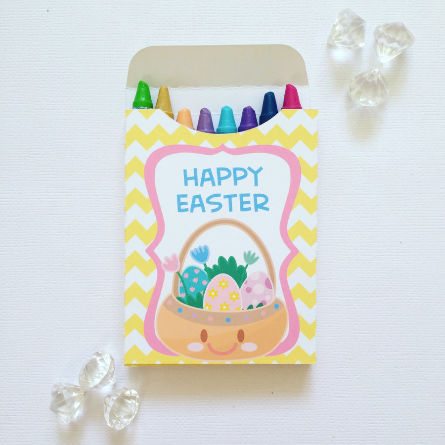 Kawaii Easter crayon boxes