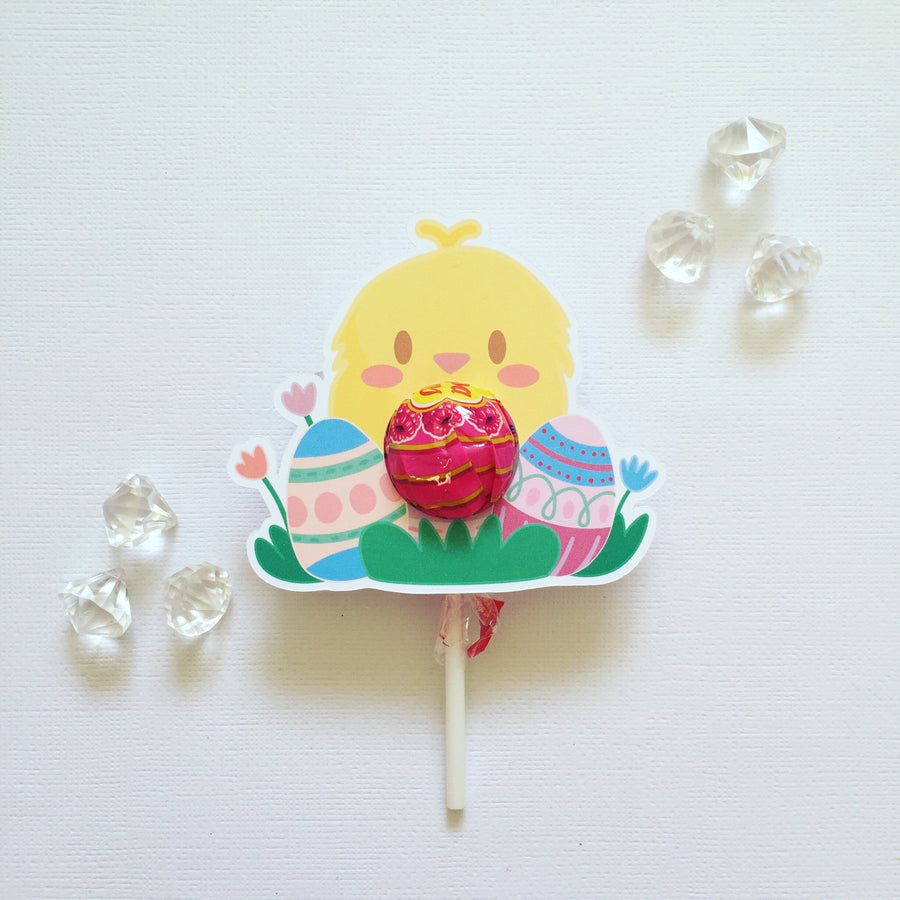 Kawaii Easter lollipop holders