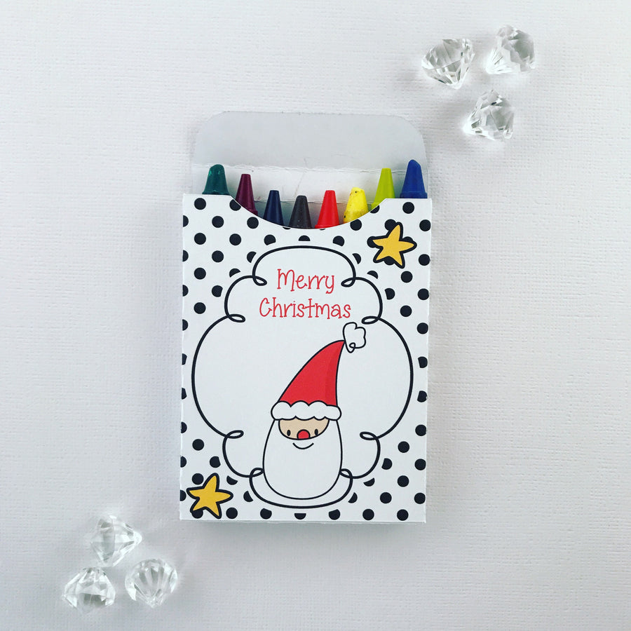 Monochrome Christmas crayon boxes